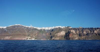 クルーズ2019初冬 4日目    サントリーニ火山島