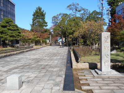 加賀小松 加賀100万石第三代藩主前田利常隠居地であった小松城跡三の丸訪問