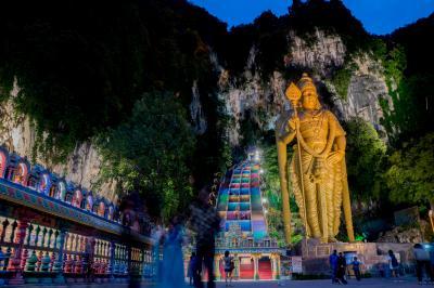 バトゥ洞窟 最高の夕焼けを鑑賞