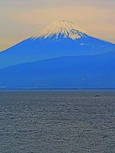 霊峰 富 士 山    ~駿河湾沿岸~海越しの雄姿/けだかく ☆大瀬崎-三津-三島・道中の車窓