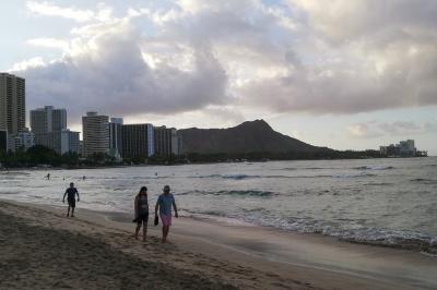 ハワイ旅行記2019 9月7日 ワイキキビーチジョギング編