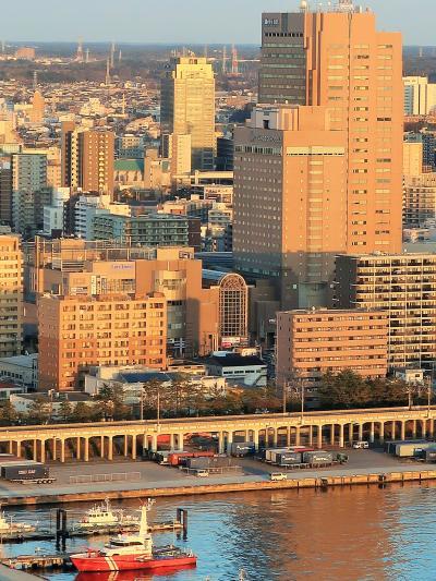 千葉ポートタワーb 展望室-高さ125m・眺望360度~ ☆市街地-千葉港-スカイツリーも
