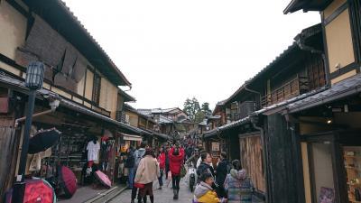 京都の東山と洛中を観光。平安、戦国、幕末の頃の昔の京都の景色・風情を味わえる。(о´∀`о)