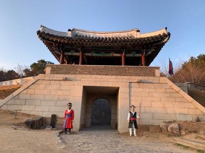 ひとり釜山と、東菜邑城(犬の散歩)