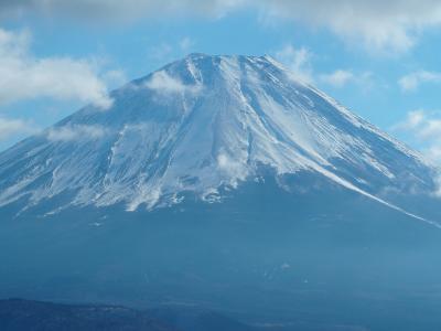 2019年登り納め パノラマ台から富士山を望む