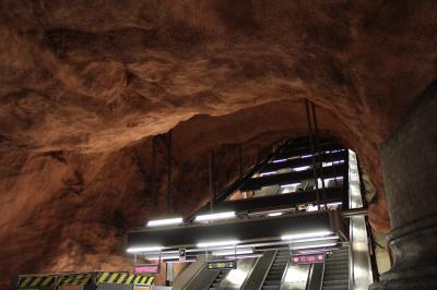 ストックホルムの地下鉄アート  1