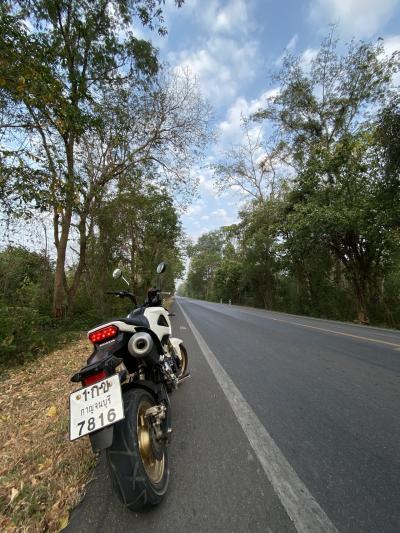 正月休みなので、カンチャナブリに行って見ることに その3 バイクでエラワンの滝やヘルファイヤパスへ