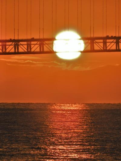 明石海峡の初日の出