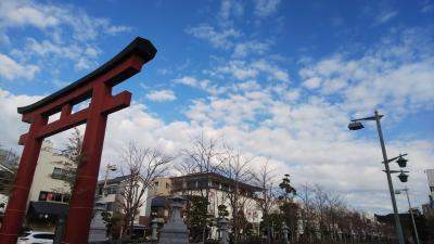 快晴 鎌倉の八幡さんと荏柄天神さんに初詣