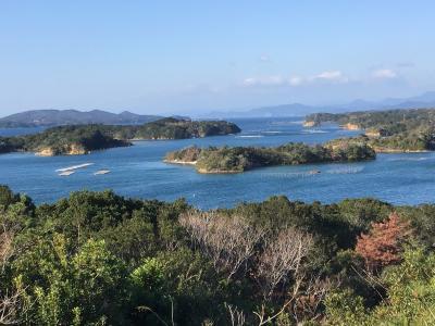 桐垣展望台からの景色を~安乗崎灯台