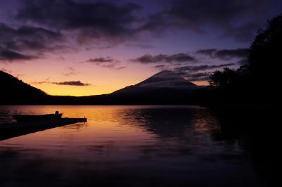 ブララブコー「2020年初日の出は精進湖から with富士山&子抱富士」