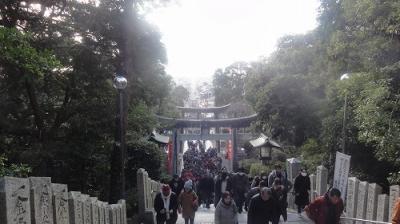 JR西日本元日乗り放題切符で博多往復 嵐JALのCMで有名になった宮地嶽神社に初詣