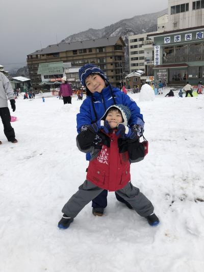 越後湯沢 湯けむりの宿 雪の花 子連れ冬休み2020