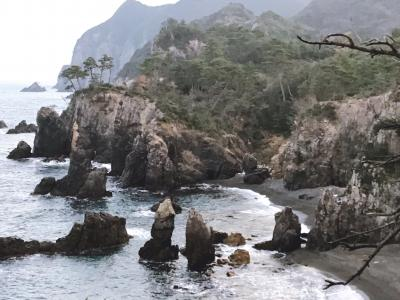 青海島自然研究路(海上アルプス)を散策