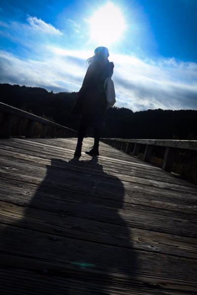 世界で一番長い木造歩道橋 蓬莱橋