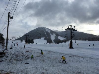 2020年の初滑り 雪不足の木島平、あと1日早く降ってくれたら