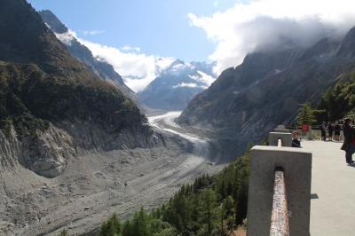 シニアー夫婦のスイスゆっくり旅行30日  (9)モンタンヴェールでメール.ドゥ.グラス氷河を見る(9月28日)
