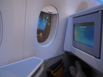 496ユーロ追加で乗りました。AY ビジネスクラスの旅!?