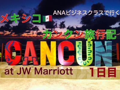 カリビアンブルーの海が見たくて メキシコ カンクン 8日間☆ANAビジネスクラスで行く1日目