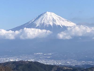 令和二年 登り初め 富士山が見える浜石岳