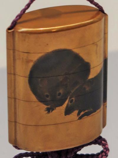 東博-6 ネ年特集「子・鼠・ねずみ」第2会場で ☆いろいろな鼠色・ネズミ様々 絵画/工芸に