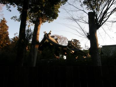 早朝散歩で鷲宮神社に初参り