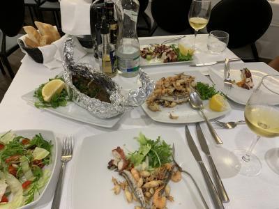 エンナとパレルモの食事とホテル。
