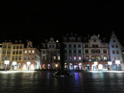 心の安らぎ旅行(2019年5月 Mainz マインツPart24 Marktplatz bei Nacht 夜のマルクト広場♪)