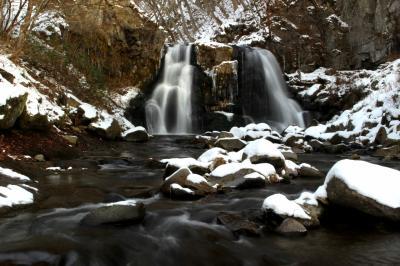 ◆冬ざれ少雪の羽鳥湖高原・明神滝
