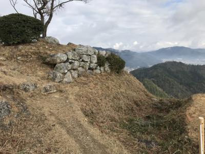 兵庫県の城跡巡り:黒井城跡、「麒麟がくる」明智光秀丹波攻略の城