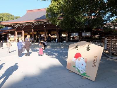 初詣 明治神宮、レインボーブリッジ、東京オリンピック競技会場等施設