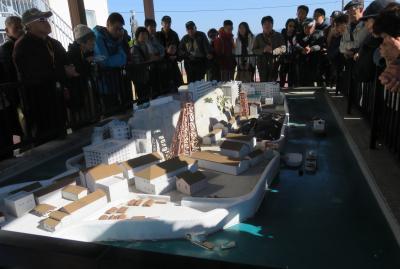2019暮、福岡と長崎の名所巡り(21/23):12月10日(8):高島(1):軍艦島から高島へ、軍艦島模型、岩崎弥太郎像