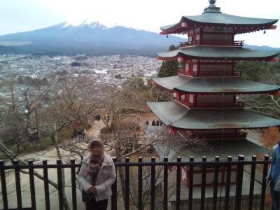 冬の富士五湖で車中泊を楽しみながら東京へ(5/8)新倉浅間神社の五重塔から甲斐の猿橋へ