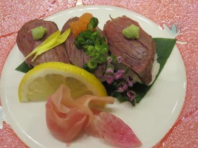 春の神戸と有馬温泉(4)かんぽの宿有馬の夕食~神戸牛炙り寿司も