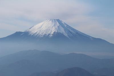 富士山が裾野まで見えた冬ハイキング