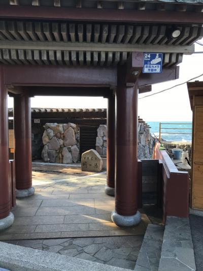 日本最古の崎の湯入れず、残念