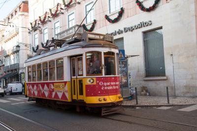 2019~2020.1 リスボンで年越し、スペインでお正月  2. リスボン 観光施設は全休! よし、トラムとケーブルカーだ!