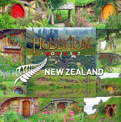 ニュージーランド北島レンタカー旅3-ホビット ムービーセットツアー、Osteria Matamata、BlueberryCountry-