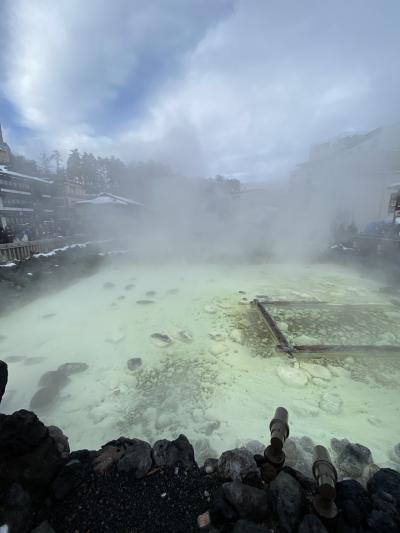 雪の軽井沢から草津温泉その1