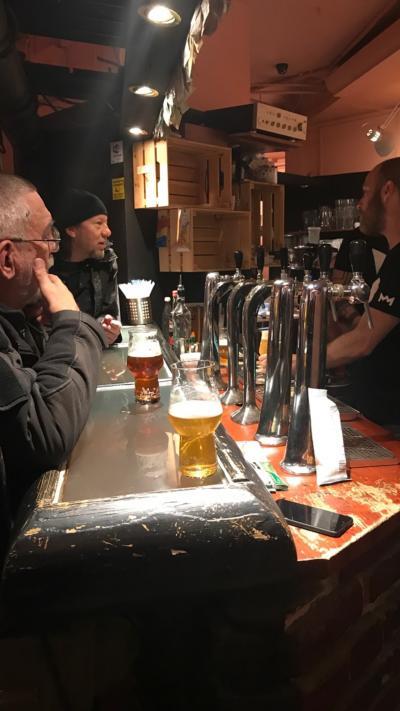 ブダペストでビールを飲みました。