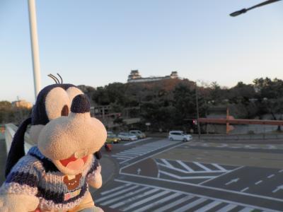 グーちゃん、紀州/和歌山へ行く!(和歌山城の夕日とライトアップ!編)