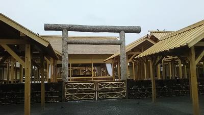 雨だけど、大嘗宮一般参観に行ってきました
