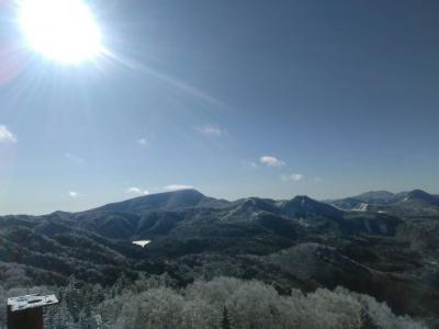 志賀高原スキー場 ~大粒のあられが降り 雲海の中を走る