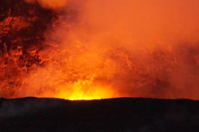 ハワイ島12日間 5日~6日目;キラウエア火山ナイトツアー;ワイピオ渓谷へ