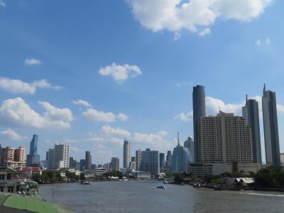 チャオプラヤー川からのバンコクの景観は最高 タイ3日目~4日目