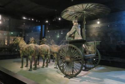 2019秋、中国旅行記25(3/34):11月18日(1):西安(2):早朝散策、明代の西安城壁、兵馬俑博物館、銅車馬