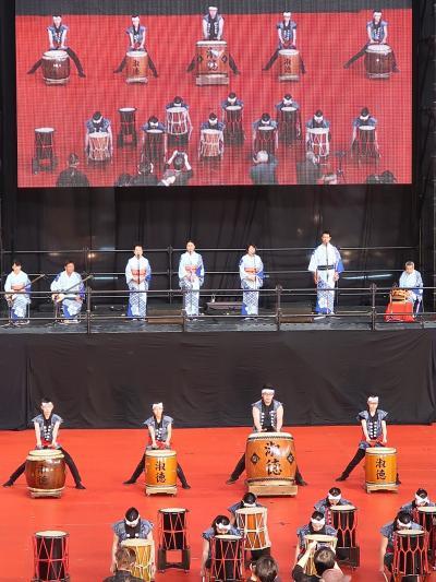 ふるさと祭り東京-6 福知山おどり(京都府福知山市)☆築城の石運び-ドッコイセまつり