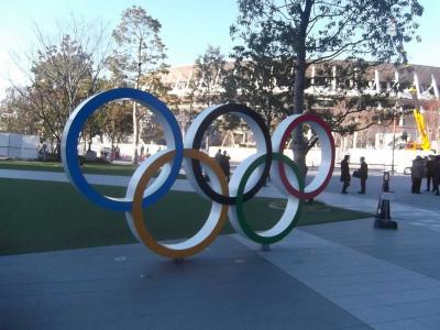 新国立競技場は整備中で近づけなかったが,近くにJapan Olympic Museum があった