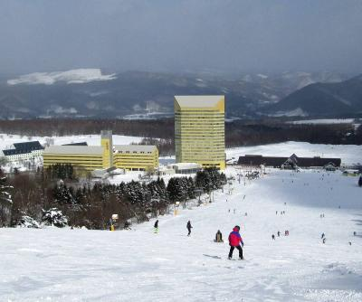 団塊夫婦のスキー&絶景の旅・2020ー(2)前沢牛と温泉を堪能・安比高原スキー場