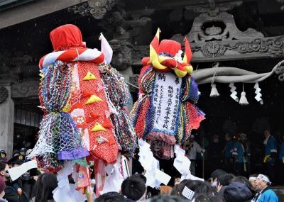 冬の秋田(その1)、お祭り男子3度目の梵天